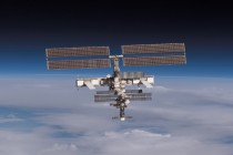 The International Space Station on the Horizon.