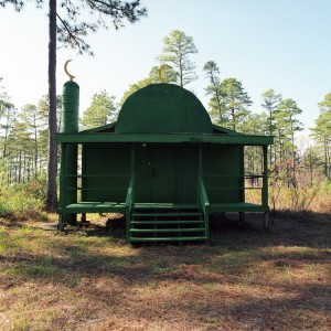 """Green Mosque, Camp Mackall, North Carolina"", 2007 from ""Theater of War: The Pretend Villages of Iraq and Afghanistan"""